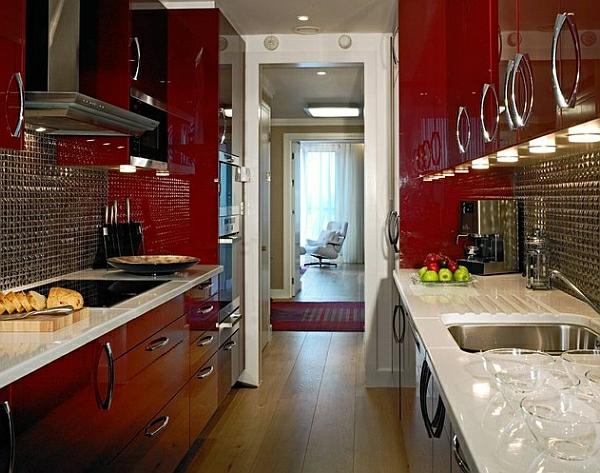 kuchenschranke farben : zeitgen?ssische k?chenschr?nke lackiert rot farben