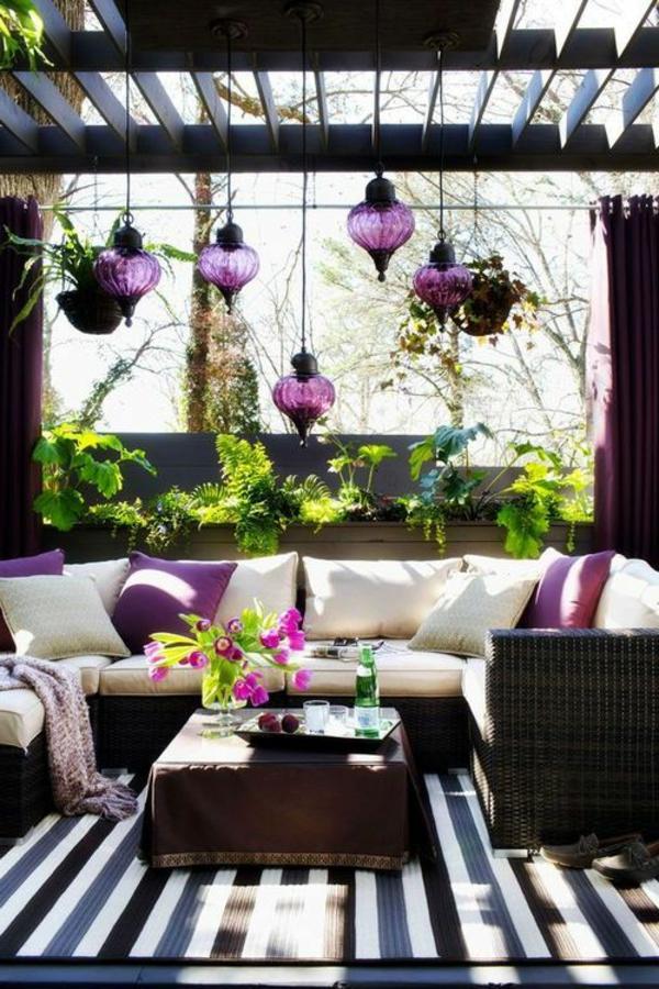 Überdachte terrasse - 50 top-ideen für terrassenüberdachung, Garten und Bauen