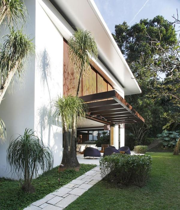 Überdachte Terrasse modern holz glas pergola designer