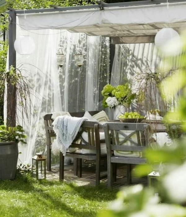 Überdachte Terrasse modern holz glas pergola markise frisch