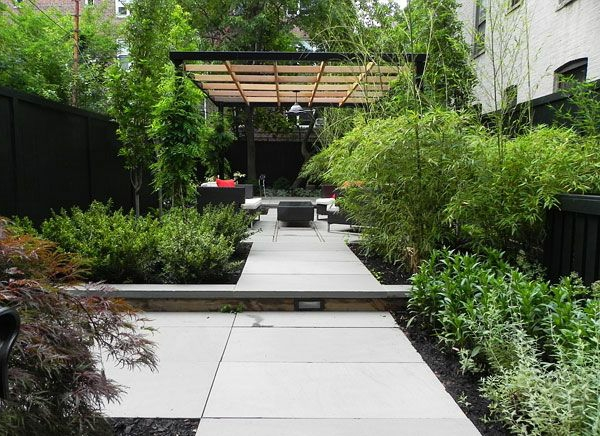 terrassenüberdachung modern holz glas pergola markise gras pflanzen