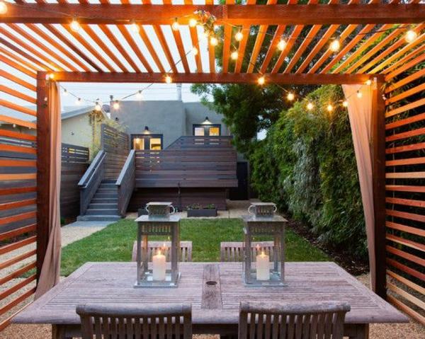 Terrassenüberdachung modern holz glas pergola markise platten