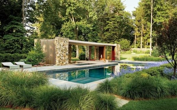 Überdachte Terrasse - 50 Top-ideen Für Terrassenüberdachung Pool Mit Glaswand Garten