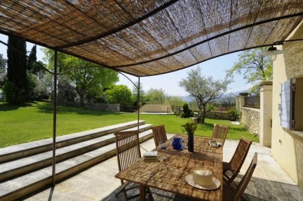 Terrassen modern holz glas pergola sitzecke