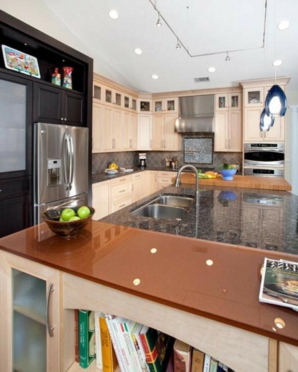 übergangsstil modern klassisch marmor küche einrichtung