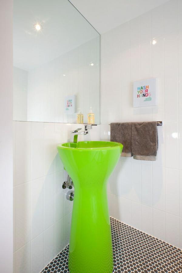 Badezimmer Ideen badideen badeinrichtung contemporary waschbecken grün