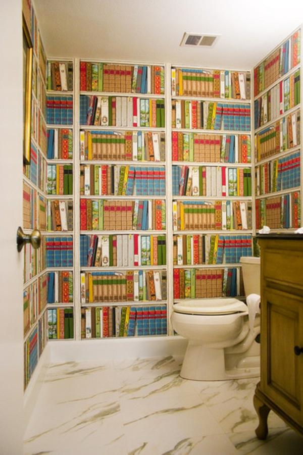 Badezimmer Ideen badideen badeinrichtung traditionell bücher