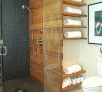 Wandregale f r badezimmer praktische moderne badeinrichtung - Ideen fur fotowand ...