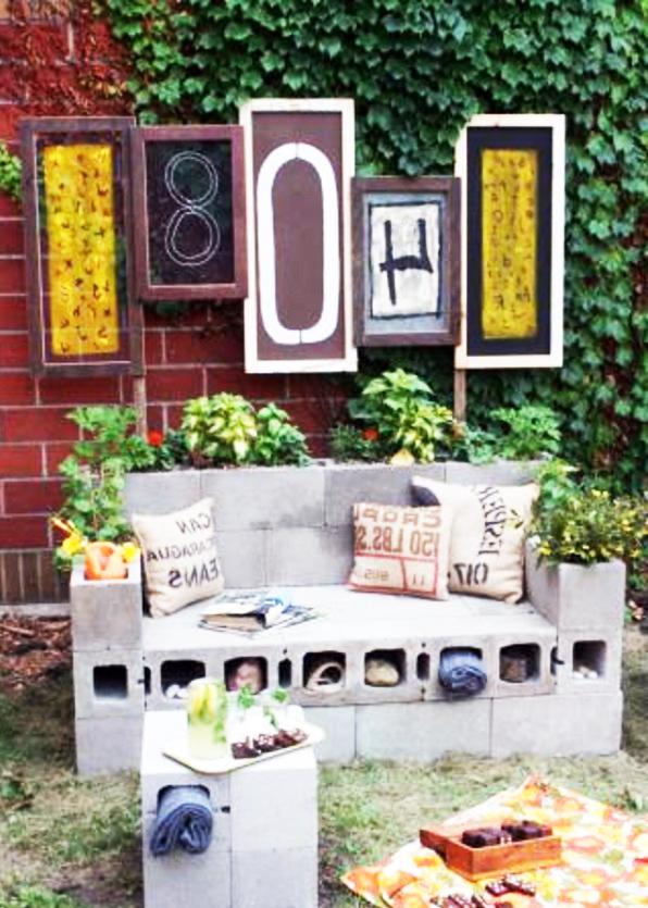 Gartenmobel Teak Pflegen : selber bauen Balkonmöbel garten holz sofa betonziegel