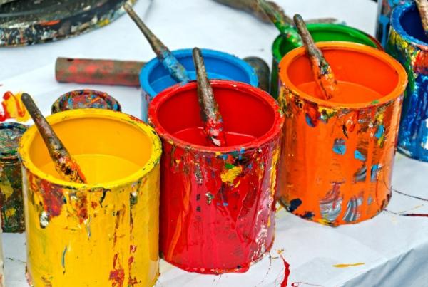DIY Bastelideen für Erwachsene Wände streichen Wandfarbe