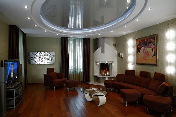 Deckengestaltung im Wohnzimmer - erstaunliche, abgehängte ...