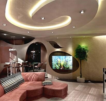 Deckengestaltung im wohnzimmer erstaunliche abgeh ngte for Wohnzimmer 4 x 10