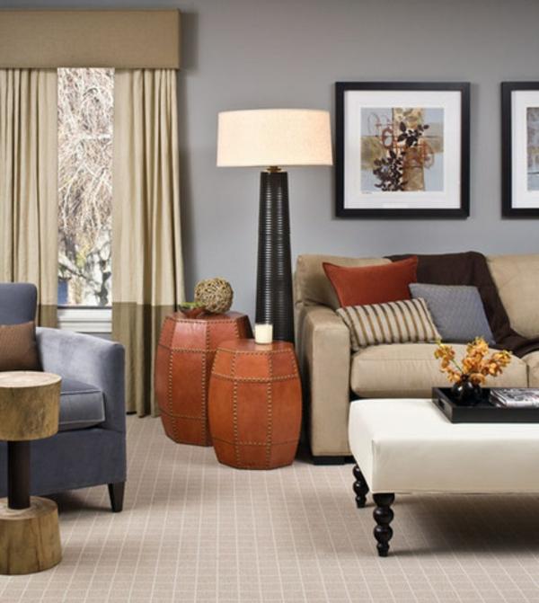 Deckenleuchten und Wandleuchten stehlampe gardinen wohnzimmer