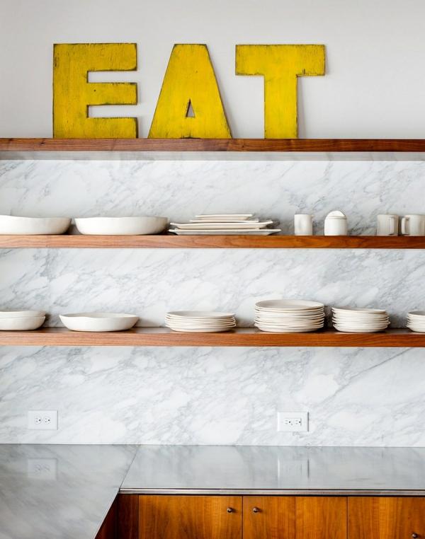 Dekoideen für küche schlichte linien