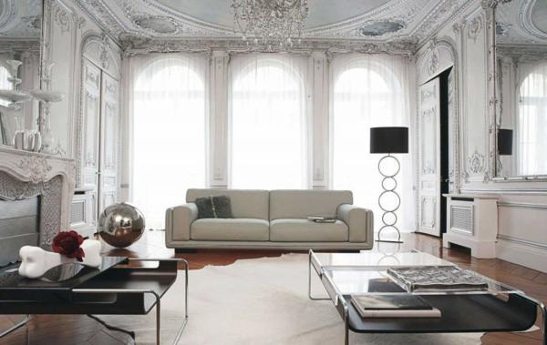 Einrichtungsbeispiele  Wohnzimmer barock wandgestaltung