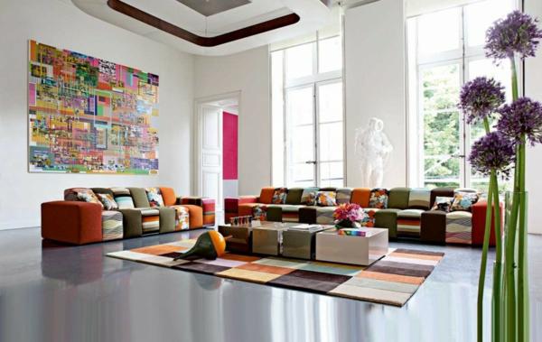 Einrichtungsbeispiele  Wohnzimmer frisch natur luftig