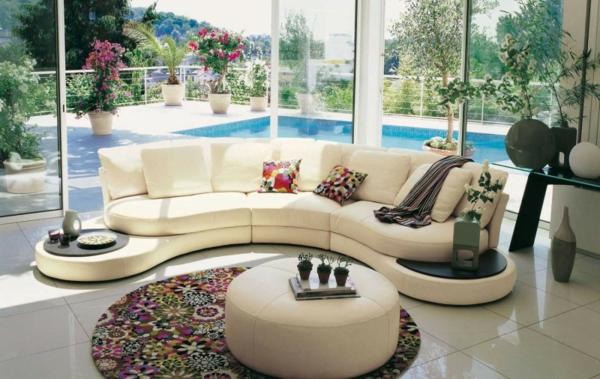 Einrichtungsbeispiele fürs Wohnzimmer frisch sommerlich