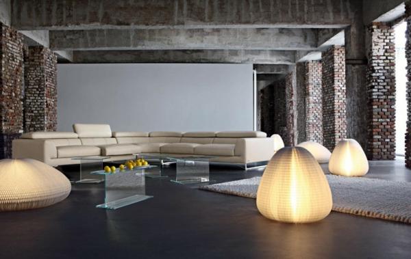 Einrichtungsbeispiele fürs Wohnzimmer industriell stil