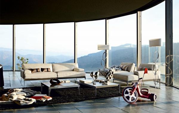 Wohnzimmer Einrichtungsbeispiele trendy innovativ