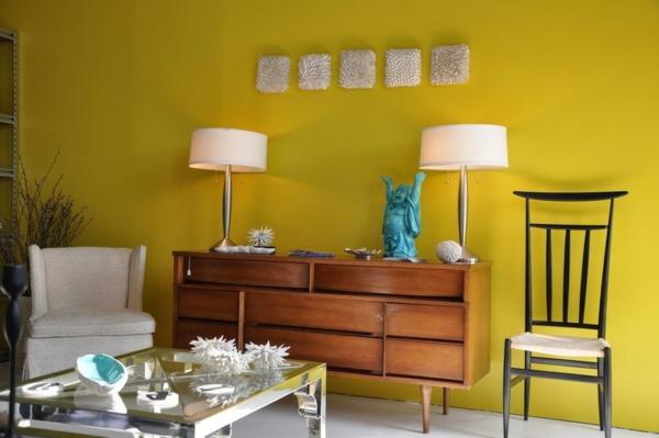 farbgestaltung und wandfarben ideen modern wohnzimmer buddha
