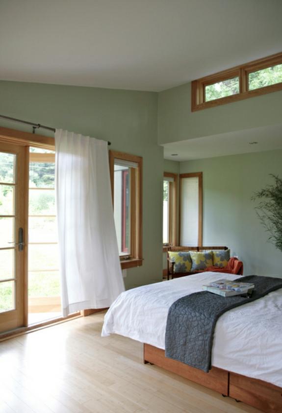 Feng Shui Einrichtung schlafzimmer ideen bett gardinen ideen