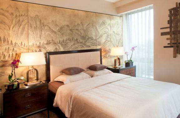 Feng Shui Einrichtung schlafzimmer ideen bett wandgestaltung