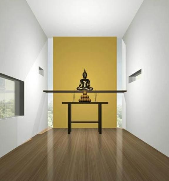 Feng Shui Einrichtung wandgestaltung buddha statue wandtattoo