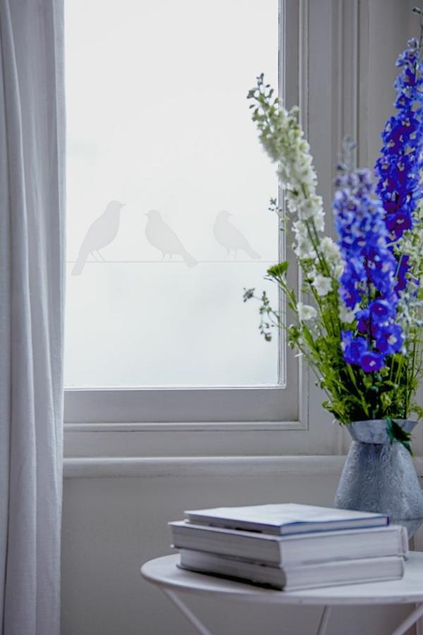 Sichtschutzfolie Fenster glastüren selbstklebend elegant blüten