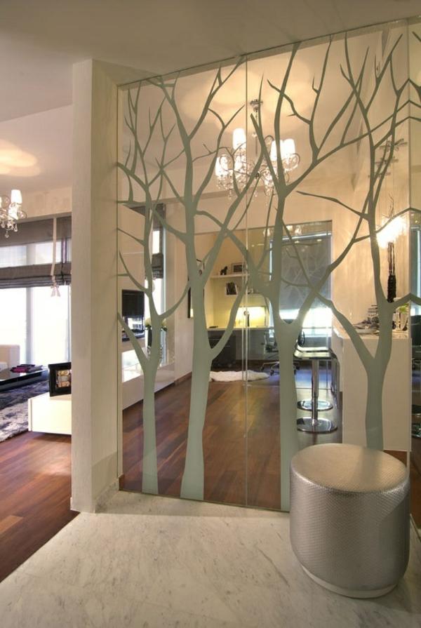 Fensterdeko Sichtschutzfolie glastüren selbstklebend elegant charmant