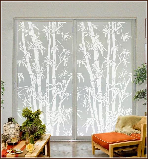 Fenster Sichtschutzfolie glastüren selbstklebend elegant orange