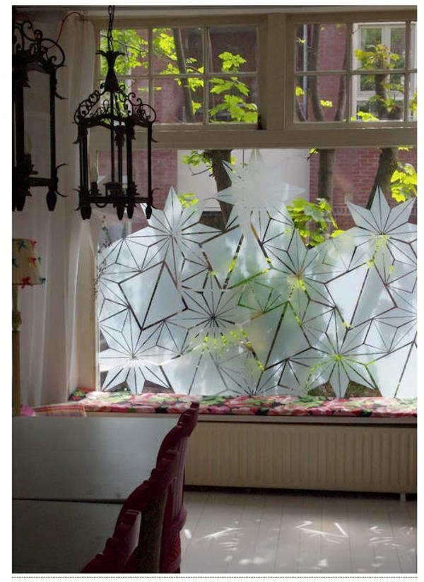 Fenster Sichtschutzfolie glastüren selbstklebend elegant schick