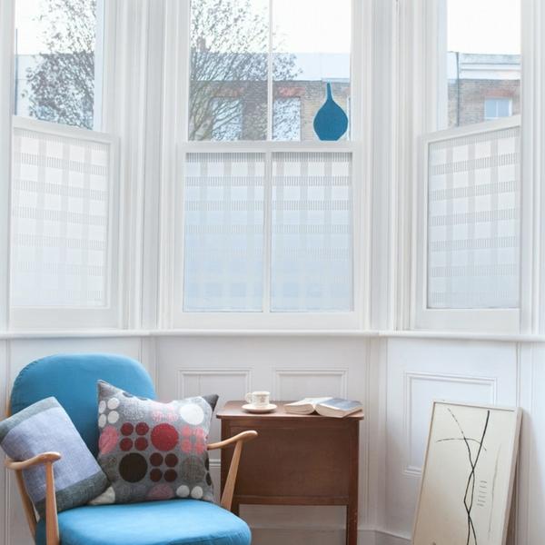 Fensterdeko Sichtschutzfolie glastüren selbstklebend sessel