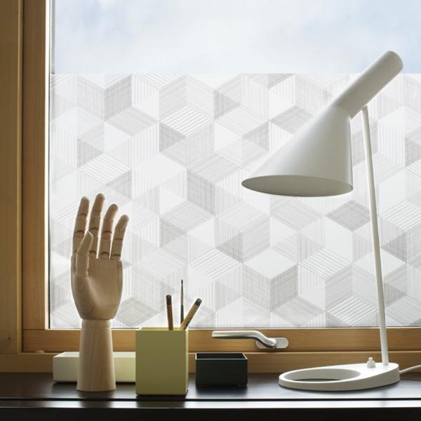 selbstklebende fenster sichtschutzfolie schicke fensterdeko. Black Bedroom Furniture Sets. Home Design Ideas