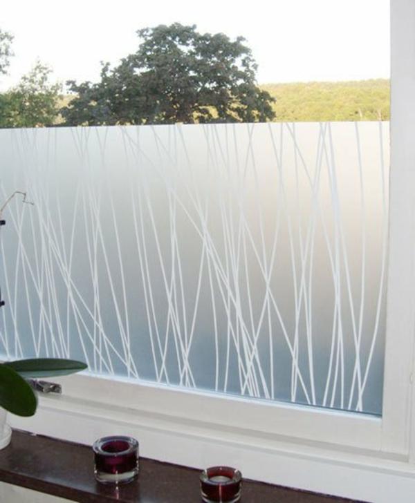 Sichtschutzfolie glastüren Fenster selbstklebend elegant umgebung
