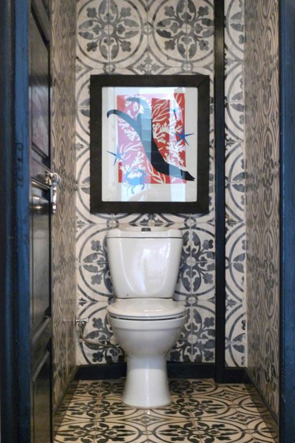 Fliesenlack wandgestaltung Fliesenfarben wc art