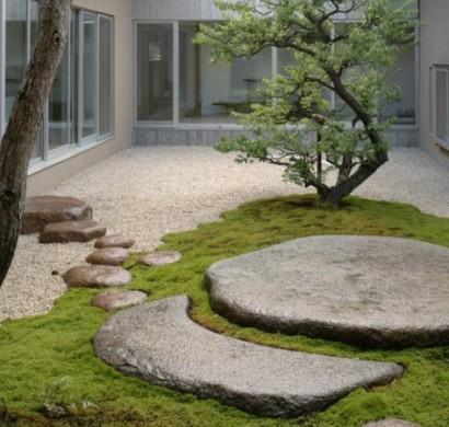gartengestaltung mit kies und steinen 25 gartenideen f r sie. Black Bedroom Furniture Sets. Home Design Ideas