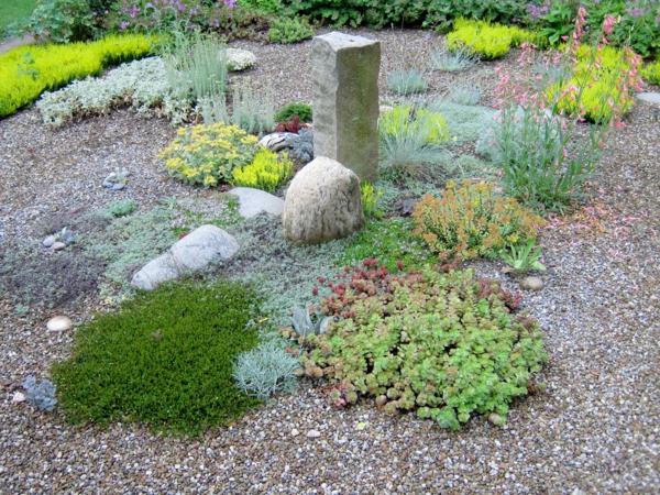 Gartengestaltung mit kies und steinen 25 gartenideen f r sie - Ideen fur vorgartengestaltung ...
