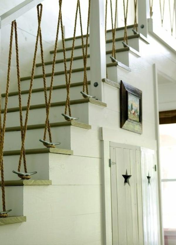 Geländer selber bauen  kunstvoll seile