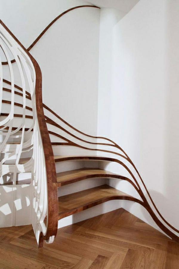 Geländer  bauen eigenartig kunstvoll treppe