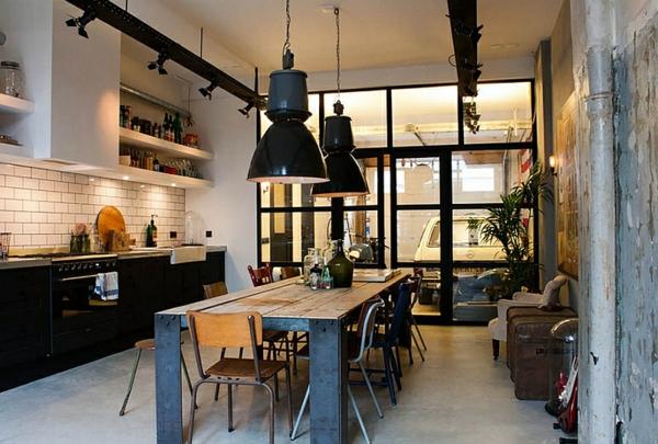 Gro e pendelleuchten im esszimmer moderne h ngelampen for Tisch kugellampe design