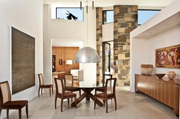 gro e pendelleuchten im esszimmer moderne h ngelampen. Black Bedroom Furniture Sets. Home Design Ideas