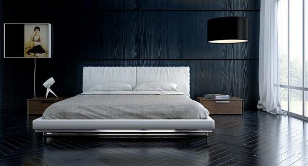 Große Pendelleuchten im schlafzimmer minimalistisch stil
