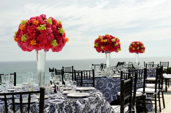 blumen beleuchtung hochglanz blumenstrauß Hochzeit tischdeko