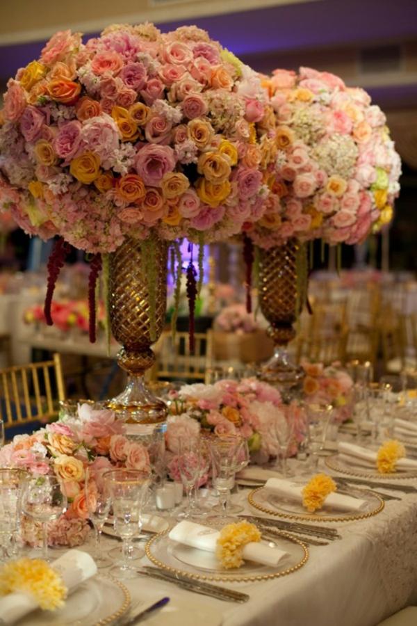 blumen beleuchtung hochglanz groß Hochzeit tischdeko