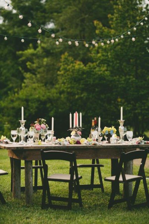 blumen beleuchtung hochglanz patio Hochzeit tischdeko