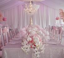 Hochzeitstisch Deko – 30 trendy Ideen für Sie