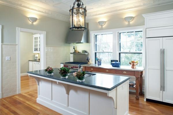 Kleine Küchen Ideen niedrige fensterbänke kücheninsel ideen