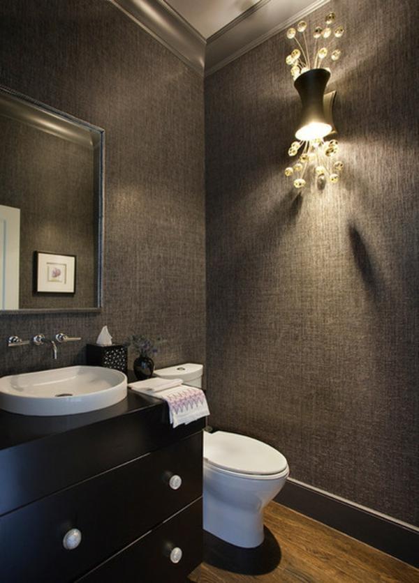 Luxus Badezimmer Deko dunkel damentoilette contemporary