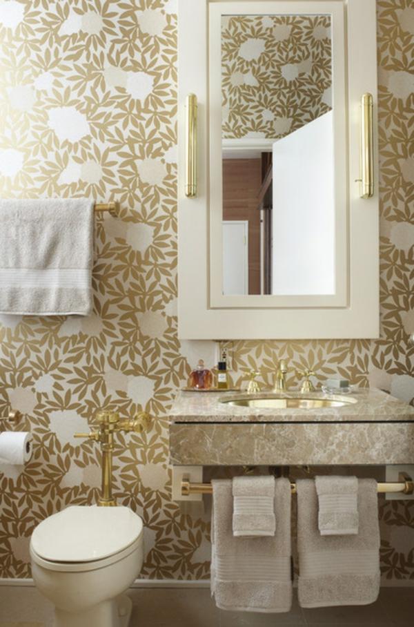 Luxus Badezimmer Deko dunkel damentoilette eklektisch stil