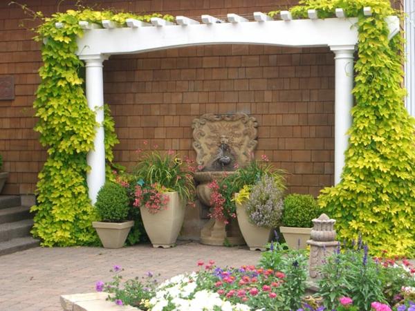 Mediterrane Gartengestaltung wasseranlagen pflanzen dürrefest